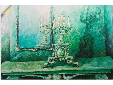 Artland Wandbild »Barocker Leuchter grün«, Innenarchitektur (1 Stück), Wandaufkleber - Vinyl