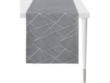 APELT Tischläufer »Vio - Loft Style, Jacquard« (1-tlg), grau, grau-anthrazit