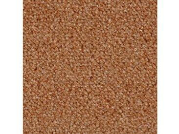 Bodenmeister BODENMEISTER Teppichboden »Velours gemustert«, Meterware, Breite 400/500 cm, orange, orange