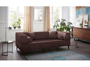 Alte Gerberei 3-Sitzer »Marten«, mit breiten Lehnen, inklusive Zierkissen & Kissenrollen, braun, brown