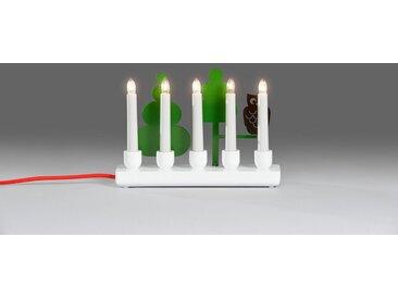 KONSTSMIDE LED Adventsleuchter, Holzleuchter mit Eule