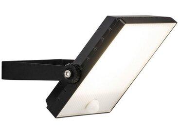 Brilliant Leuchten Dryden LED Außenwandstrahler 22cm Bewegungsmelder schwarz, schwarz, schwarz