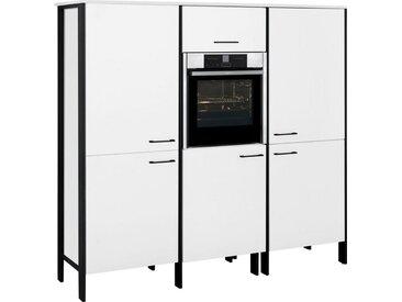 OPTIFIT Backofen/Kühlumbauschrank »Tokio« 188 cm breit, mit Stahlgestell, mit viel Stauraum, weiß, weiß