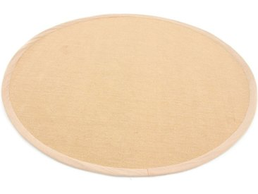 carpetfine Sisalteppich »Sisal«, rund, Höhe 5 mm, natur, beige