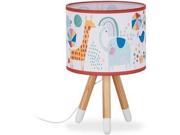 relaxdays Nachttischlampe »Nachttischlampe Kinder mit Tiermotiv«