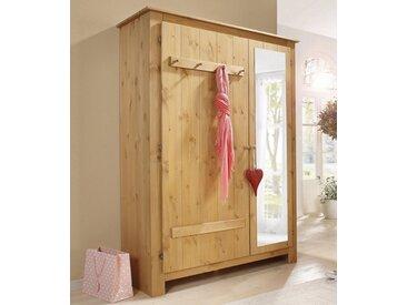 Home affaire Garderobenschrank »Bertram« aus schönem massivem Kiefernholz, mit einer Spiegeltür, Höhe 170 cm, natur, natur/geölt