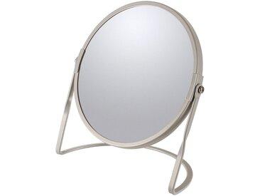 spirella Kosmetikspiegel »AKIRA«, 5-fach Vergrößerung, braun, braun-grau