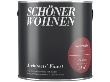 SCHÖNER WOHNEN-Kollektion SCHÖNER WOHNEN FARBE Wand- und Deckenfarbe »Architects' Finest - Sødermalm«, 2 l, rot, Sødermalm