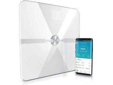 MyBeo Digitale Bluetooth Körperfettwaage »Diagnosewaage mit App-Steuerung«, weiß, weiß