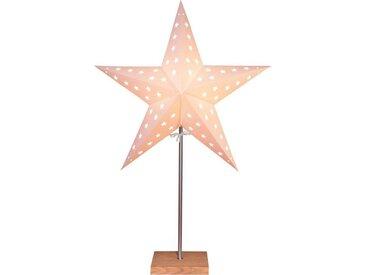 "STAR TRADING LED Stern »""Leo"" - stehend - 5-zackig - Ø 43cm, H: 65cm - E14 Fassung - inkl. Kabel - weiß«"