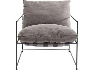 KARE Sessel »CORNWALL«, Gestell: Stahl pulverbeschichtet, Bezug: 85 % Baumwolle, 15 % Polyester, Kissenfüllung: Polyester Gurtaufhängung