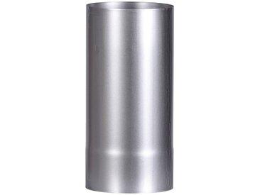 Firefix FIREFIX Ofenrohr feueraluminiert, ø 120 mm, 250 mm lang, silberfarben, silberfarben