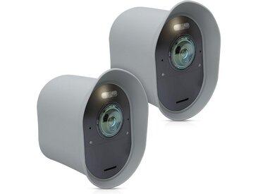 kwmobile Kameratasche, 2x Hülle für Arlo Ultra / Arlo Pro 3 - Silikon Security Camera Cover Schutzhülle Kamera, grau, hellgrau