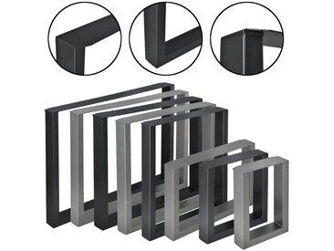 en.casa Untergestell, 2x Tischgestell im Set für DIY Esstisch, Beistelltisch, Couchtisch, Bank, uvm. - in verschiedenen Farben und Größen, schwarz