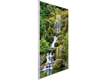 Papermoon PAPERMOON Infrarotwandheizgerät »Garten Teich, EcoHeat «, Aluminium, 600 W, 100x60 cm, mit Rahmen, bunt, bunt