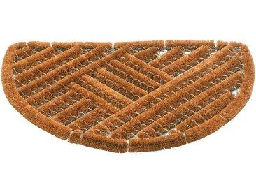 matches21 HOME & HOBBY Fußmatte »Fußmatte Kokosmatten Drahtgittermatte Natur gestreift 40x60 cm«, rechteckig, Höhe 30 mm
