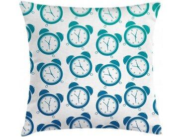 Abakuhaus Kissenbezug »Waschbar mit Reißverschluss Kissenhülle mit Farbfesten Klaren Farben Beidseitiger Druck«, Retro Vintage Wecker Patterns