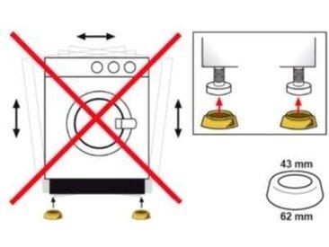 Eyckhaus kitchen & cooking Vibrationsdämpfer, (Set, 4-St), Für Waschmaschinen, Zur Montage unter der Waschmaschine, für ruhigen, schwingungsärmeren Lauf, die vier praktischen Dämpfer sorgen für eine erhöhte Standsicherheit der Maschine und dienen der Geräuschdämpfung