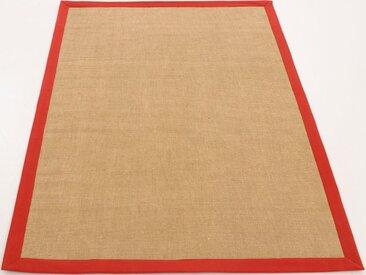 carpetfine Sisalteppich »Sisal«, rechteckig, Höhe 5 mm, rot, rot