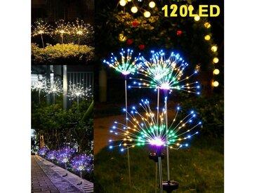 travor LED Solarleuchte »2stk Solar Feuerwerk Licht 120 LED Solarleuchte DIY Solarlampe 2 Beleuchtungsmodi Gartenlicht Landschaft Wasserdicht«, weiß