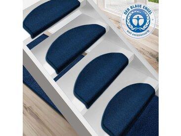 Floordirekt Stufenmatte »Dynasty 1A«, Halbrund, Höhe 8,5 mm, blau, Blau
