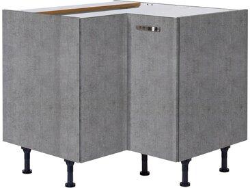 Eckunterschrank »Cara«, grau, beton/beton