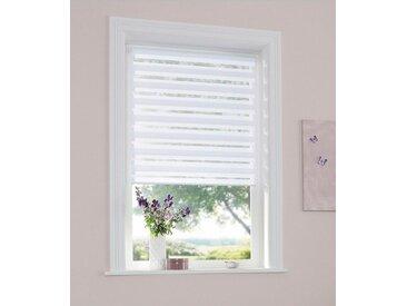 my home Doppelrollo »Marano«, Lichtschutz, ohne Bohren, freihängend, im Fixmaß, weiß, weiß