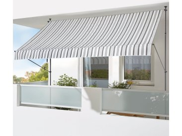 KONIFERA Klemmmarkise »300x150 cm« Breite/Ausfall: 300/150 cm, grau, grau-weiß
