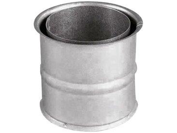 JUSTUS ORANIER Rauchrohr Ø 150 mm, Ofenrohr für Kaminöfen, silberfarben, silberfarben
