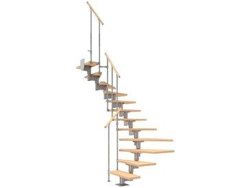 Dolle DOLLE Mittelholmtreppe »Cork«, Birke, 11 Stufen, versch. Ausführungen, natur, 1/2 gewendelt, natur