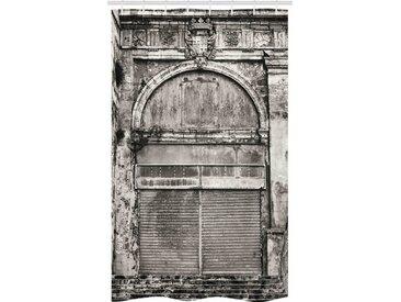 Abakuhaus Duschvorhang »Badezimmer Deko Set aus Stoff mit Haken« Breite 120 cm, Höhe 180 cm, Rustikal Historische alte Speicher-Front