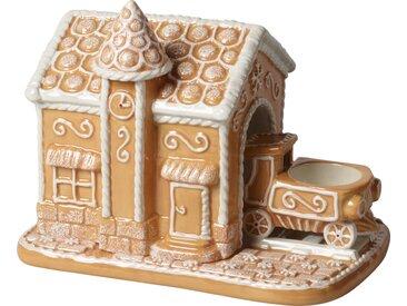 Villeroy & Boch Lebkuchenbahnhof »Winter Bakery Decoration«, braun, 20x13x16cm, braun,weiß