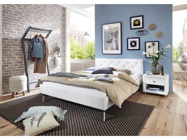 ATLANTIC home collection Polsterbett, weiß, weiß