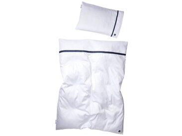Nordic Coast Company Kinderbettwäsche »Premium Edition«, Mit Reißverschluss, weiß, weiß-blau