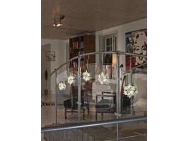 KONSTSMIDE LED Schneeflocken Lichtervorhang, 5er-Set, weiß, Lichtquelle warm-weiß, Transparent