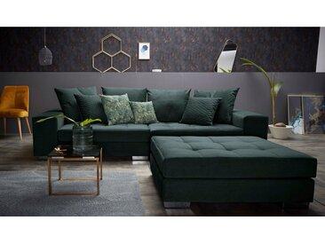 INOSIGN Big-Sofa »Vale«, mit Steppung im Sitzbereich, Federkern und Zierkissen, grün, grün