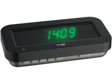 TFA Dostmann Digitale Funkuhr mit 3D-Effekt »HOLOCLOCK«, schwarz / LED grün