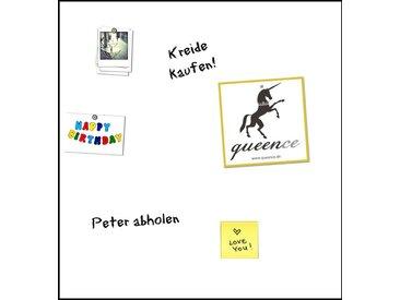 queence QUEENCE Komplett-Set: Magnetfolie »Magnetische Markerfolie«, selbstklebend, weiß, 50 x 50, weiß