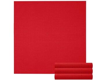 Lashuma Handtuch Set »Pure« (Set, 4-tlg), Geschirrtuch 4er Set, Küchentücher Waffelpique 50 x 50 cm, rot, blutrot