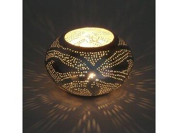 Casa Moro Windlicht »Orientalisches Windlicht Nureddin aus echt versilberten Messing, Kunsthandwerk aus Marokko, Marokkanische Laterne Handmade Teelichthalter