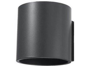 Licht-Erlebnisse Wandleuchte »VALERYA Wandlampe Anthrazit Metall Ø10cm G9 Up & Down Beleuchtung Treppe«