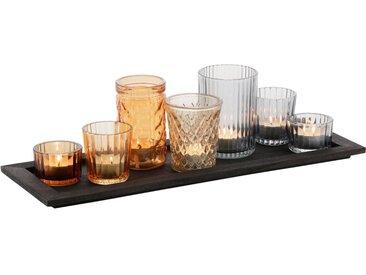 my home Teelichthalter »Tablett mit 7 Gläsern«, in verschiedenen Farben