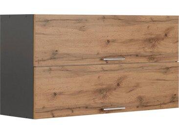 HELD MÖBEL Klapphängeschrank »Colmar« 110 cm, mit Metallgriff, für viel Stauraum, natur, wotaneiche/grafitgrau
