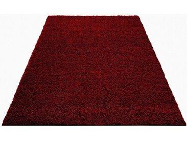 Home affaire Hochflor-Teppich »Shaggy 30«, rechteckig, Höhe 30 mm, rot, weinrot