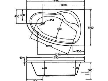 OTTOFOND Whirlpool-Badewanne »Loredana«, (2-tlg), Typ Premium, chrom, Wanne rechts