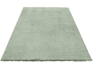 my home Hochflor-Teppich »Desner«, rechteckig, Höhe 38 mm, Besonders weich durch Microfaser, grün, grün