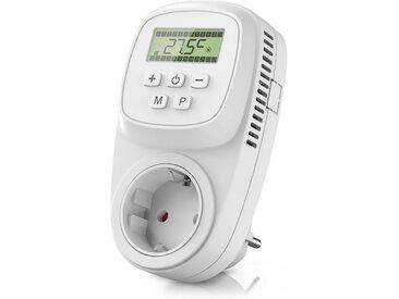 BEARWARE Steckdosen Thermostat digital programmierbar »Temperaturregelung 5° – 35°C«, weiß, weiß