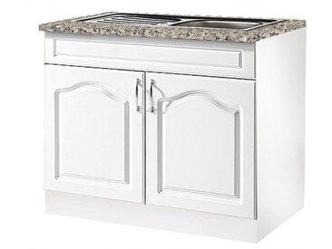 wiho Küchen Spülenschrank »Linz« 100 cm breit, inkl. Einbauspüle, weiß, Weiß