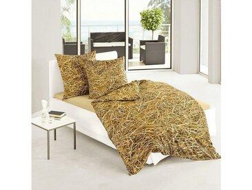 TRAUMSCHLAF Bettwäsche »Stroh und Heu«, schlafen wie im Heuhotel, 1 St. x 200 cm x 200 cm, 3 tlg.