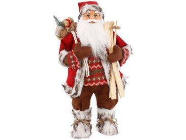 my home Dekofigur »Weihnachtsmann«, Holz-Kunststoff-Polyester-Metall